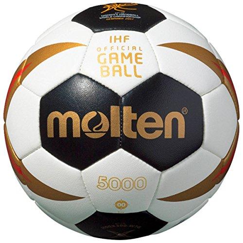 Molten Deutschland WM 2017 Damen Mini-Handball Größe 00 Kinder Weiß/Schwarz/Gold/Rot, Größe 00