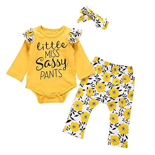 Baby Kleidung Weant - Fitness-Bekleidungssets für Mädchen in Gelb, Größe 80