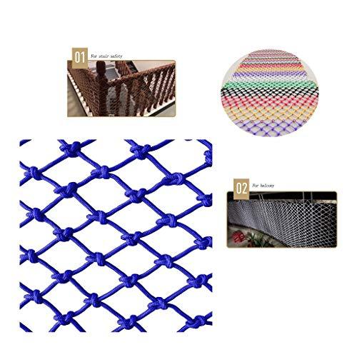 Find Discount Children's Anti-Fall net Blue Kindergarten Balcony Stair Fence Shatter-Resistant net H...