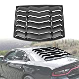 LE-JX Matte Black Rear Window Louver Cover Compatible with 2011-2020 Dodge Charger in GT Lambo Style Custom Fit All Weather ABS