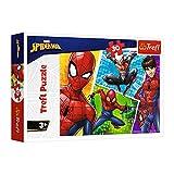 Trefl 18242 , Puzzle, Spiderman und Miguel, Disney Marvel Spiderman, 30 Teile, für Kinder ab 3 Jahren
