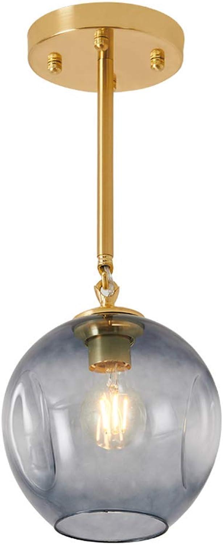 Moderner minimalistischer blauer transparenter Glaskugel des justierbaren Kronleuchters magische Bohne Pendelleuchte Gangflurpersnlichkeit kreative einzelne dekorative Deckenleuchte des Kopfes