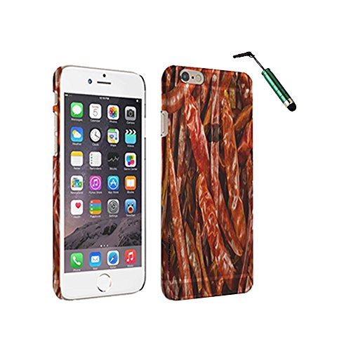 Red Peppers - Space Case with Stylus by New Vibe iPhone 6 Clear Cover Case with Stylus