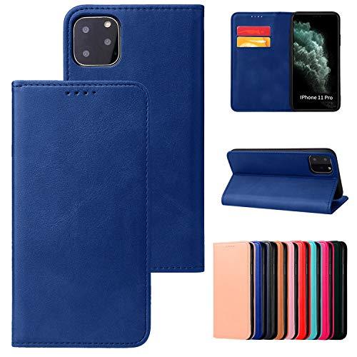 Funda con tapa magnética para iPhone XR, sin lengüeta modelo de teléfono compatible con iPhone XR, color azul