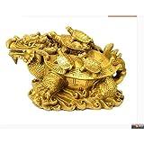 XIAOXX - Dragón de cobre, decoración de tortuga, 9 sub dragón,...
