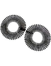 La Peach Fashions Klassiska damer flexkammar sicksack hårband unisex design kam vanliga färger