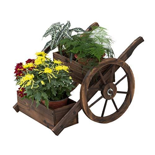 Support pour Plantes Support en Bois Échelle de Rangement pour présentoirs de Fleurs Support pour Fleurs Support de Pot de Fleurs Balcon Chambre Jardin Taille 35x66x45 cm