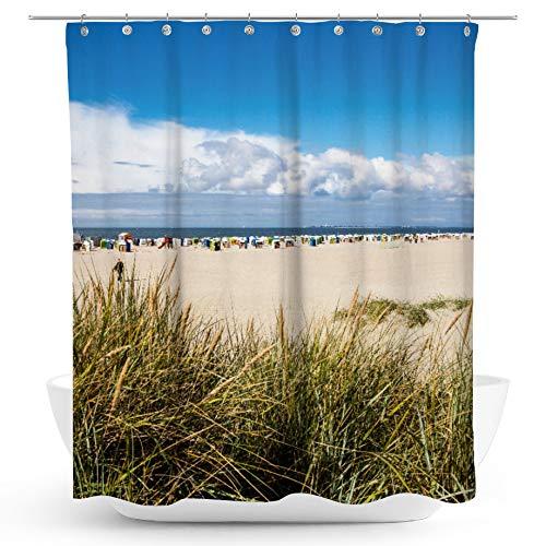 fotobar!style Duschvorhang 175 x 200 cm Norddeich, Strand