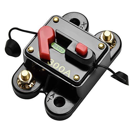 Qiorange 60-300A 60AMP 300AMP Auto Marine Boat Bike Stereo Audio Leistungsschalter Reset Sicherung 12V-24V DC (300A)