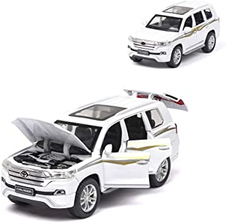 Toy Cars 1:32, Toy Cars Bulk, Alloy Car Model Land Cruiser Children's Car Toy Model Decoration the Door Can Be Opened with...