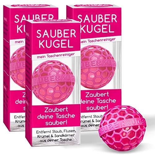 3er Set – Sauberkugel pink – Die clevere Art der Reinigung von Taschen, Rucksäcken und Schulranzen – Die Lifestyle Innovation 2020