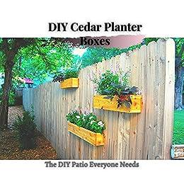 DIY Cedar Planter Boxes: The DIY Patio Everyone Needs by [Easy DIY]