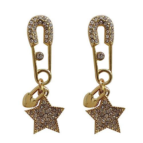 Orecchino a forma di graffetta Trend orecchino a forma di stella pentagramma moda Elegante orecchino a stella Orecchino a stella retro tendenza Stella