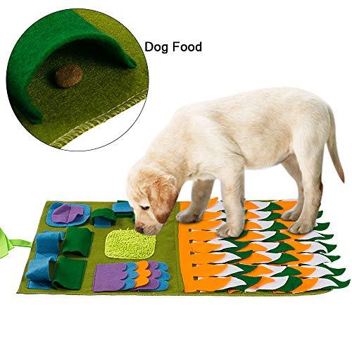 FREESOO Stuoia per cani, cibo per animali, addestramento per cuccioli e giocattoli puzzle Verde