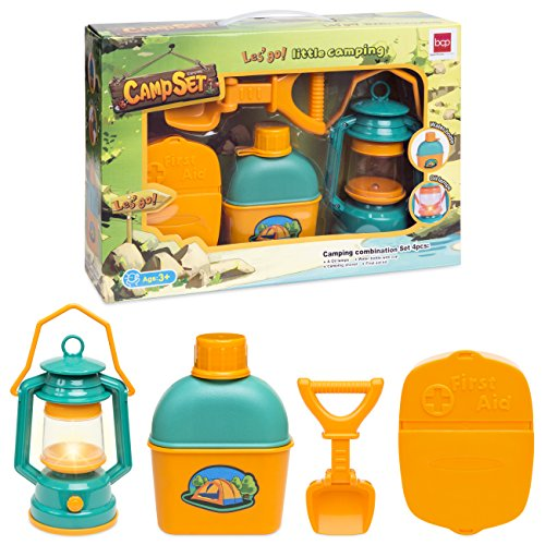 Best Choice Products Kids Outdoor Adventure Kit Camping Beach Digging Gear w/ Light, Shovel, Water Bottle, First Aid Kit