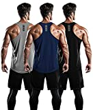 DRSKIN Men's 3 Pack Dry Fit Y-Back Muscle Tank Tops...