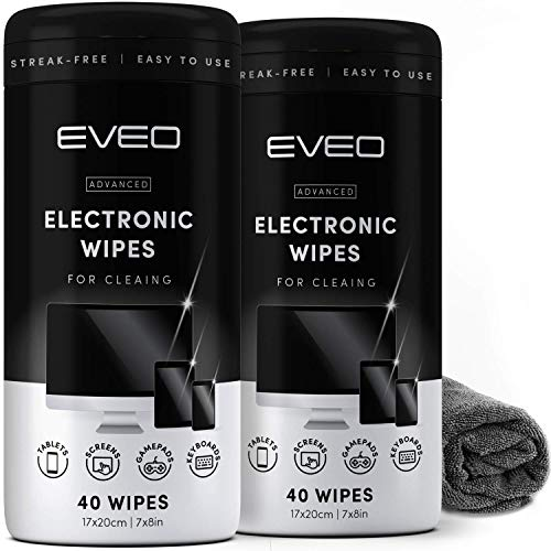 Electronics Wipes for Screen Cleaner [2 Pack x 40] TV