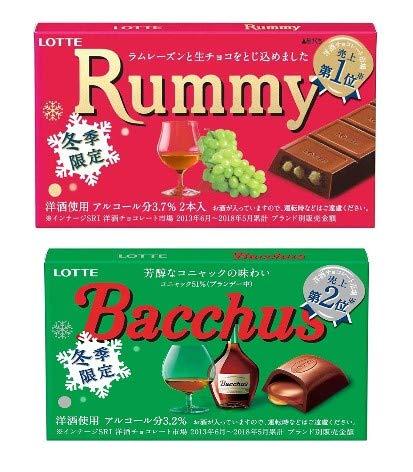 ロッテ ラミー・バッカス 洋酒チョコ 第1位 第2位 各6個セット(計12個)