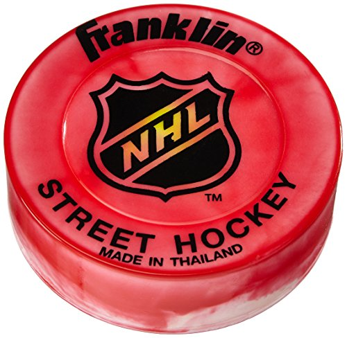 Franklin Streethockeypuck NHL Extreme Color Puck-Blister, Rot