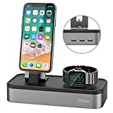 Oittm 5 USB Ladestation für iPhone und Apple Watch Series 3/ Apple Watch Series 3 with...