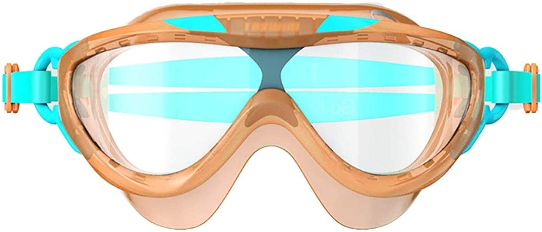 WYNZYYYYJ Goggles for Enfants 4-8, zoggs Goggles Enfants 4-8 Goggles pour Enfants imperméables et Anti-buée à Grande Surface Confortables Garçons et Filles baignant dans l'eau