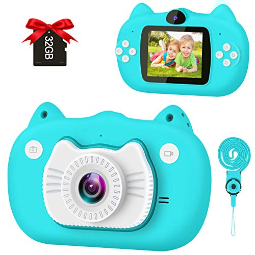 Product Image of the GKTZ Kids Selfie Camera Digital Video Cameras Birthday Gift Toy for Girls and...
