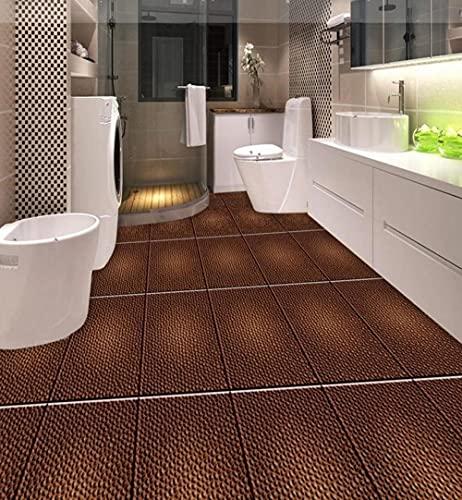 Custom 3d Texture flooring 3d stereoscopic wallpaper tile flooring bathroom waterproof vinyl wallpaper floor-200x140cm