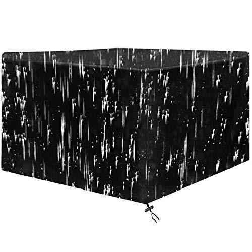 Funda de Cubos para Muebles en Patio de Jardín, Tela Oxford 210D Impermeable, Cubiertas de Muebles de Ratán de Rsquina Grande para Trabajo Pesado, Anti-UV, Antipolvo,242×162×100 cm/95×63×39'