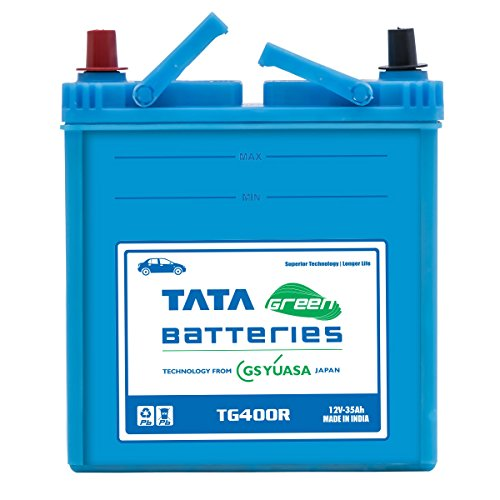 Tata Green Batteries 1419511267 TG Series TG400R 12 Volts 35Ah Car Battery (Under Exchange-Old Battery)