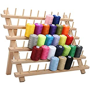 KING DO WAY Thread Rack Holds 60 Spools Brown 40x18.5x27.5cm:Marocannonce