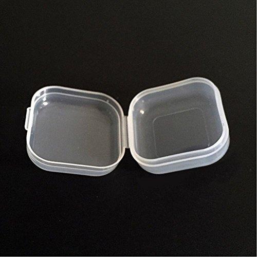 Tookie 5 pcs Mini Portable en Plastique Transparent boîte de Rangement de crèmes, Bijoux, Bouchons d'oreilles Conteneur de Stockage