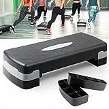 Tabla de stepper para aeróbic, fitness, altura ajustable, para ejercicios aeróbicos y de fitness, dispositivo de entrenamiento compacto para pérdida de peso y ejercicios de equilibrio