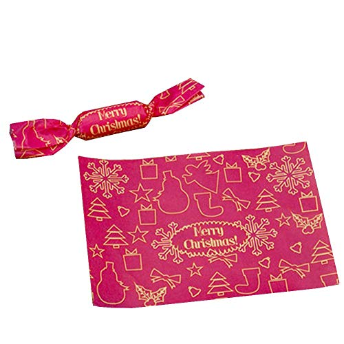 Why Choose 24station 400 Sheets Candy Wrappers Twisting Caramel Wax Papers [Christmas] #15