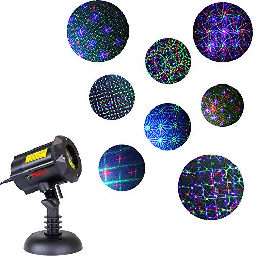 LedMAll Motion 8 Patterns in 1 RGB Outdoor Garden Laser Christmas Lights with RF Remote Control and Security Lock