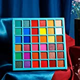 DE'LANCI Eyeshadow Palette Rainbow Bright 36 Colors,Highly Pigmented Colorful Matte Shimmer Makeup Eye Shadow Pallet,Vibrant Red PurpleBlue Green Purple Brown Eye Shades Beauty Artistry Palette