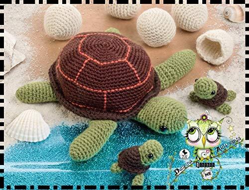 TORTUGA MARINA AMIGURUMI PERSONALIZABLE ( Bebé, crochet,