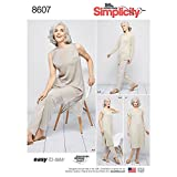 Simplicity US8607A Easy to Sew Women's Dress, Tunic, and Pull-On Pants Sewing Patterns, Sizes XXS-XXL