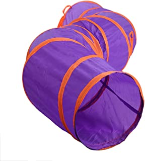 Yaoyodd19 Cat Kitten Linkable Curved Tunnel Training Toy DIY Foldabe Spliced Hole Tube Pet Supplies Purple