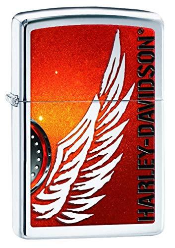 Zippo Harley Davidson Flame, Finitura cromata Lucida, No Size