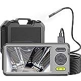 XJJY Cámara de inspección de endoscopio de Doble cámara con 5'Monitor de 5 mm Ultra-Slim a Prueba de Agua CoreScope Snake Cámara Videocope