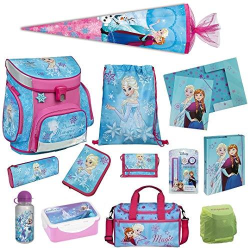 Familando Disney die Eiskönigin ELSA Schulranzen-Set 17tlg. Scooli Campus Fit mit Sporttasche, Regenschutz und Schultüte 85cm