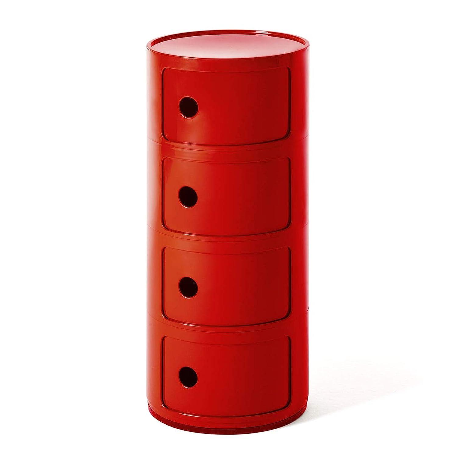 ペイント締める品カルテル(Kartell) コンポニビリ4 レッド φ32/H77cm SFNT-K4985-10