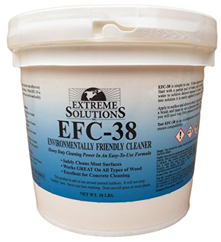 Wood Cleaner & Wood Stripper for Wood Decks, Wood Fences, Wood Siding, and Log Cabins - EFC38 - Woodrich Brand - Covers up to 3000 Square Feet