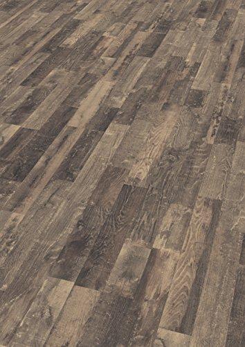 EGGER Home Laminat braun Holzoptik - Nidaros Eiche schwarz  EHL040 (7mm, 2,481 m²) Klick Laminatboden | Bodenbelag