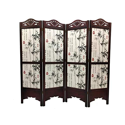 Bamboo Tree Room Divider Screen