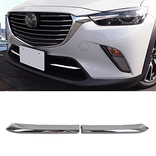 Beautost Fit For Mazda CX-3 2016 2017 2018 2019 2020 Chrome Front Lower Grill Grille Cover Trims