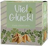 """Ni Hao """"Viel Glück"""" Glückskekse in schöner 10er Box mit einzeln verpackten Keksen und verschiedenen Sprüchen - Made in Germany"""