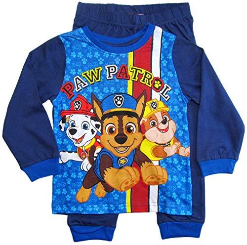 PAW PATROL Schlafanzug Jungen Lang Pyjama (Blau, 92-98)
