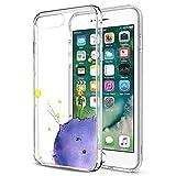 Yoedge Funda iPhone 8 Plus, Ultra Slim Cárcasa Silicona Transparente con Dibujos Animados Diseño Patrón [El Principito] Bumper Case Cover para Apple iPhone 8 Plus / 7 Plus (5,5 Pulgadas)(Púrpura)