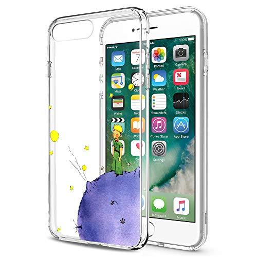 Cover iPhone 8, YOEDGE Antiurto Custodia Trasparente con Disegni [The Little Prince] Ultra Slim Protective Case Bumper in TPU Silicone per Apple iPhone 8/7 (4.7 Pollici) Smartphone (Porpora)